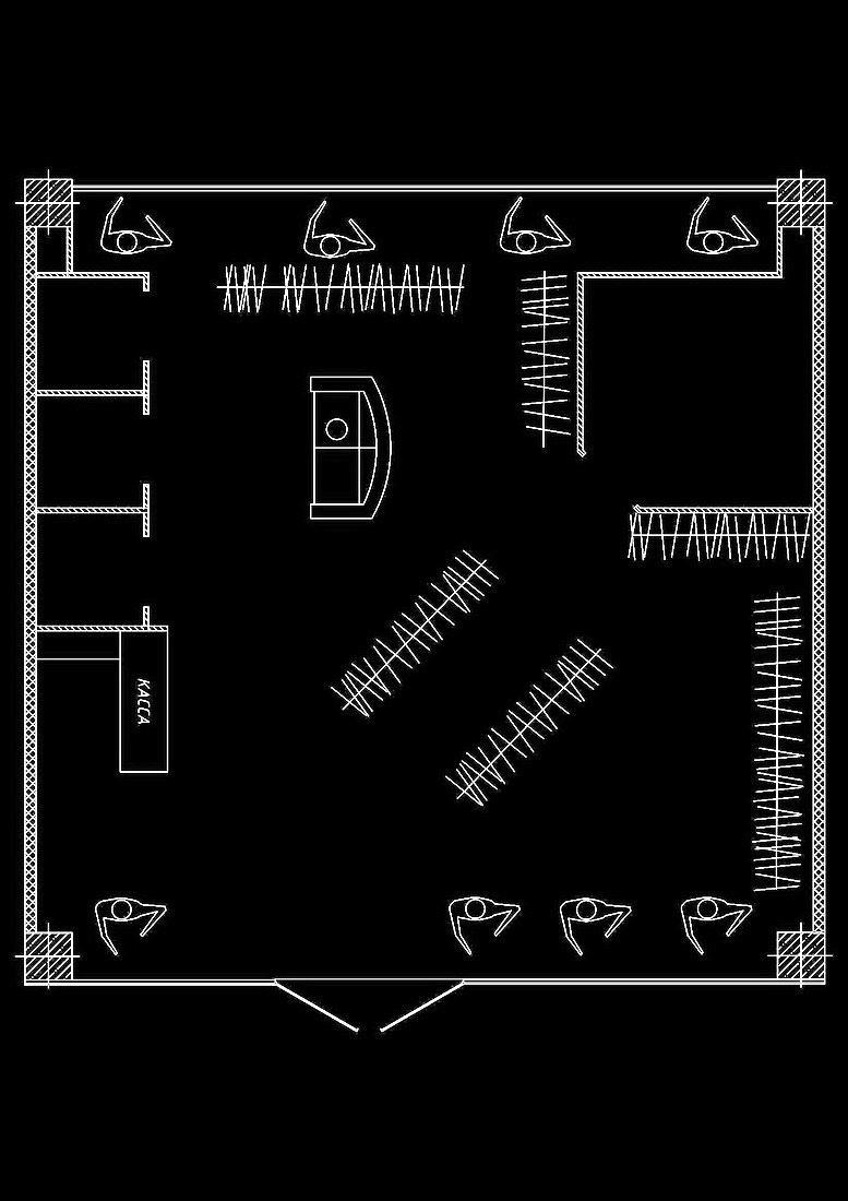 Разработка планировки магазина Ежевика