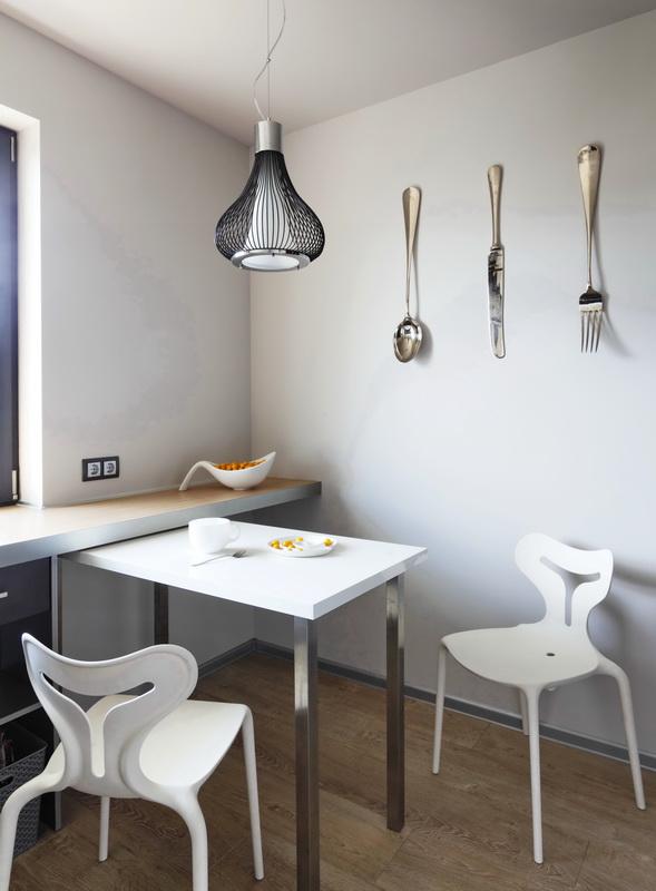 3D визуализация дизайна кухни и обеденной зоны