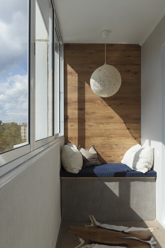 Дизайн зоны отдыха на балконе