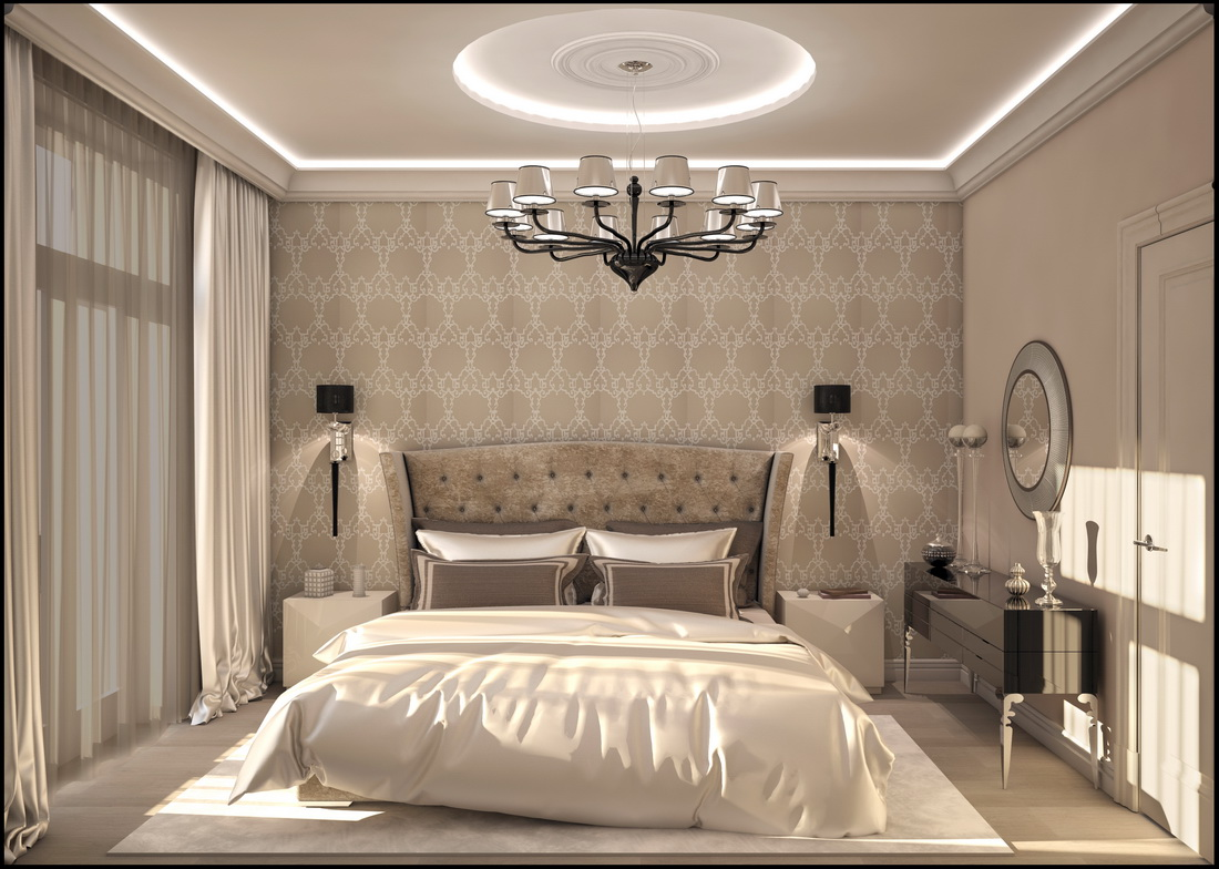 Дизайн спальни в сталинке в классическом стиле