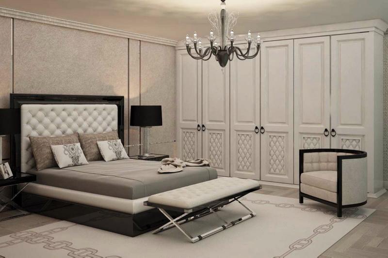Интерьер спальни в стиле современной классики