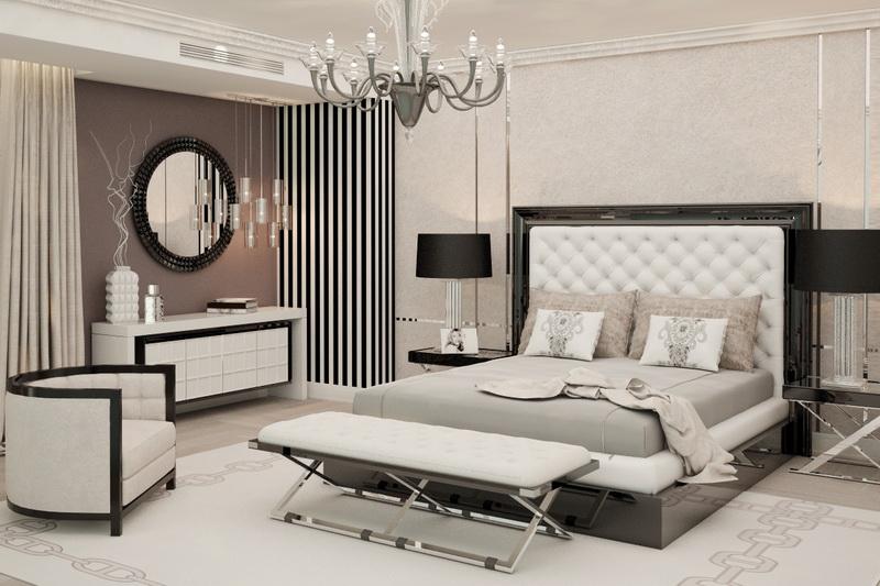 дизайн спальни в квартире в белых тонах