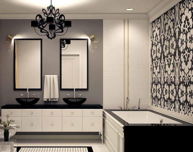 Оформление ванной комнаты в классическом стиле