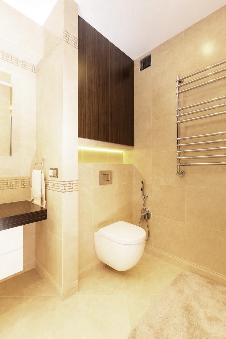 Дизайн ванной комнаты в трехкомнатной квартире