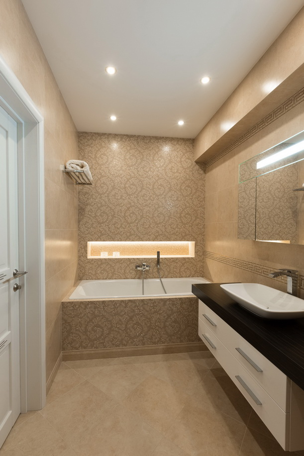 Оформление ванной в минималистичном стиле
