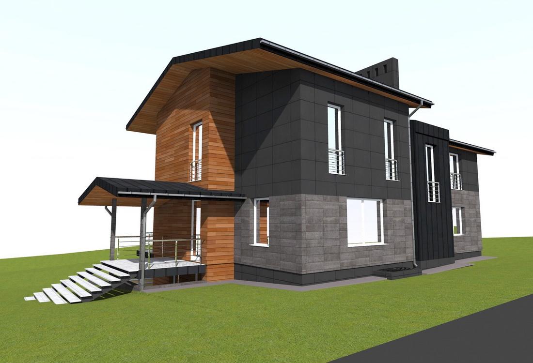 3D модель дизайн-проекта коттеджа