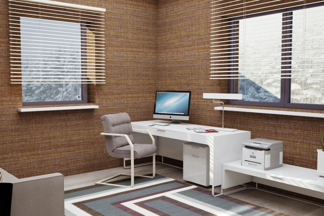интерьер рабочего кабинета в загородном доме