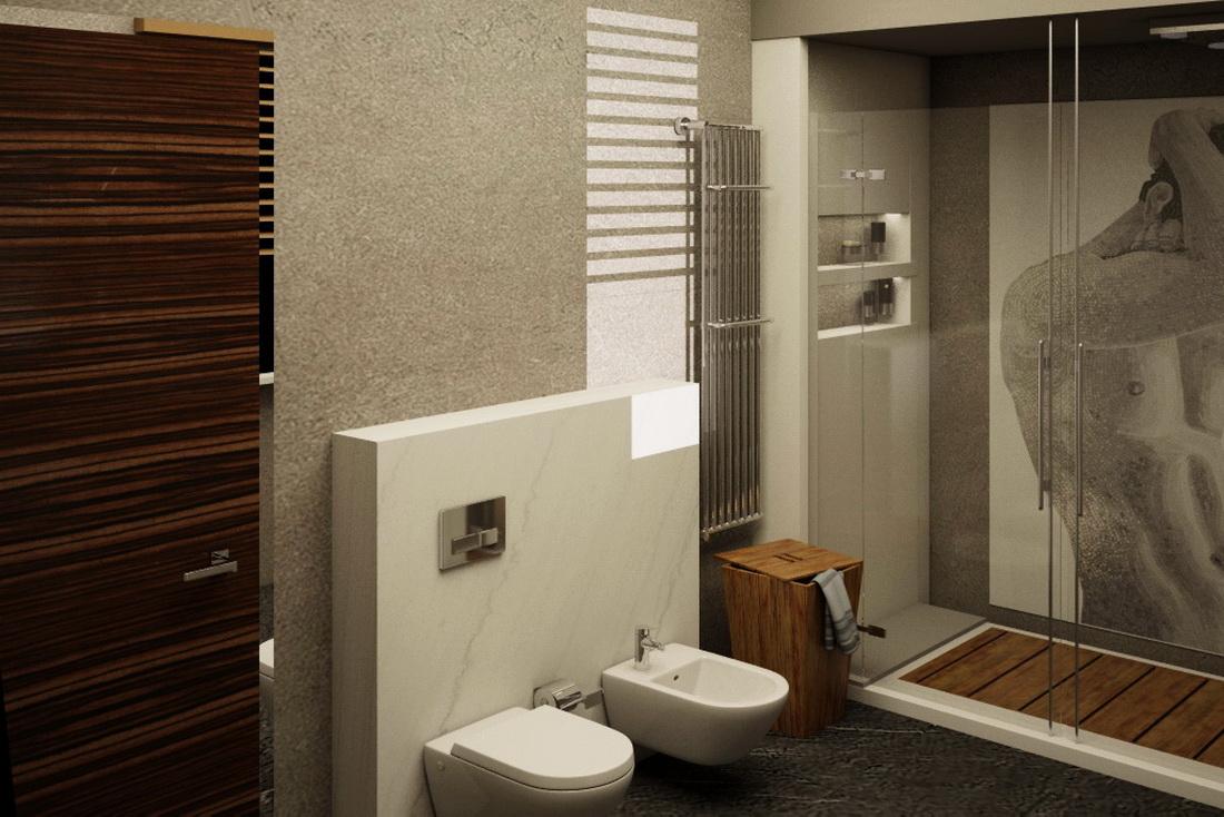 3D-визуализация дизайна интерьера ванной