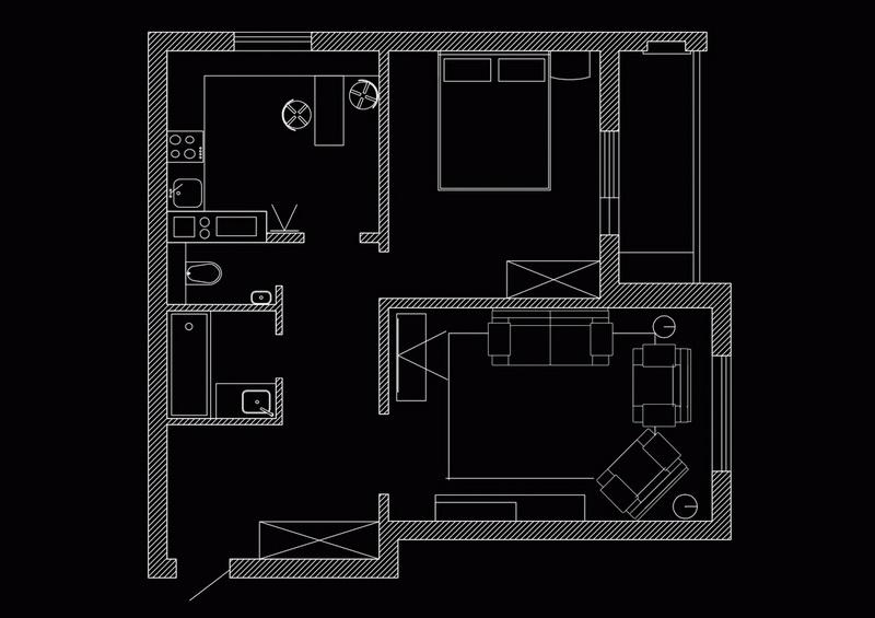 Перепланировка квартиры с расстановкой мебели