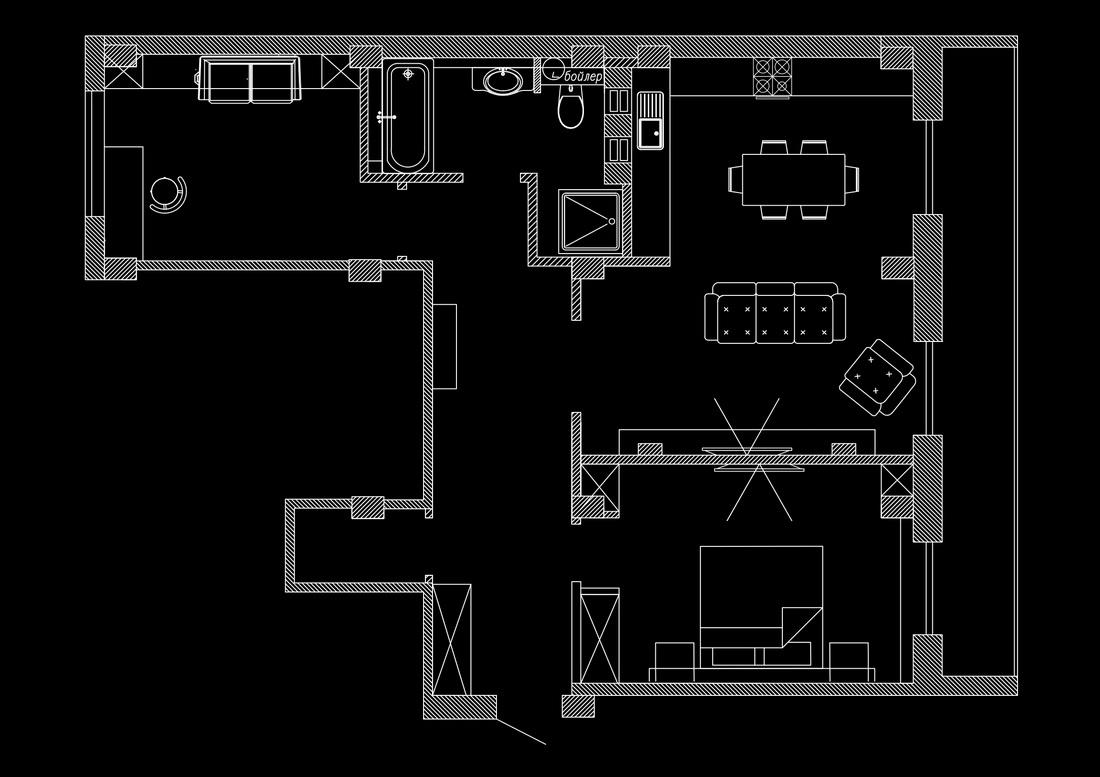 план перепланировки квартиры с расстановкой