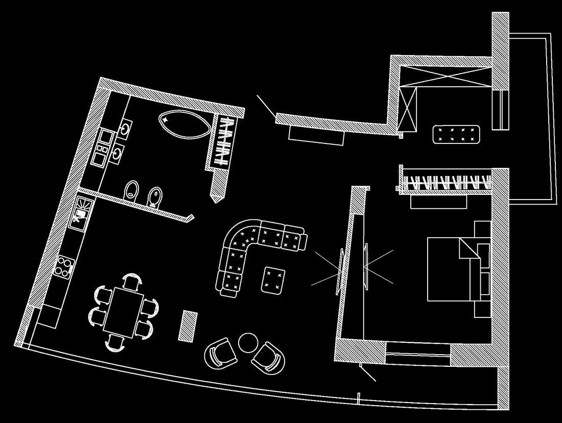 План перепланировки квартиры в ЖК Парус